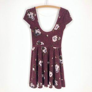 🌈3/22 Kimchi Blu   Floral Skater Dress Sz S